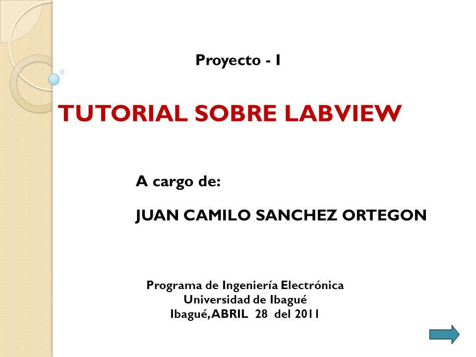 A cargo de: JUAN CAMILO SANCHEZ ORTEGON