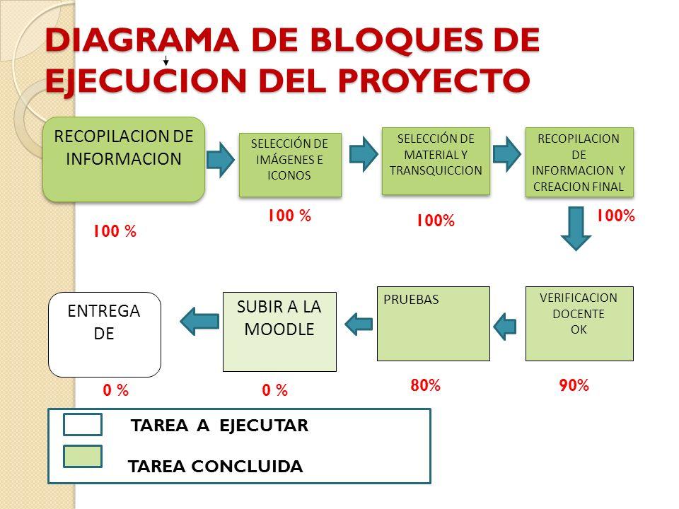 DIAGRAMA DE BLOQUES DE EJECUCION DEL PROYECTO