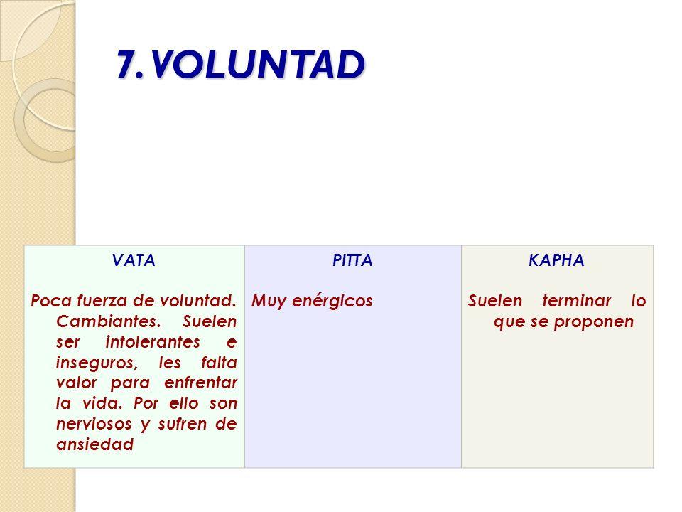 7. VOLUNTAD VATA.