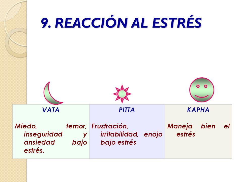 9. REACCIÓN AL ESTRÉS VATA