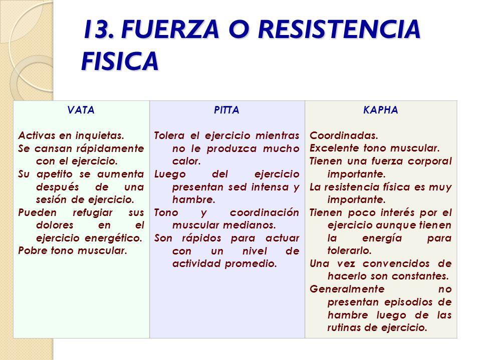 13. FUERZA O RESISTENCIA FISICA