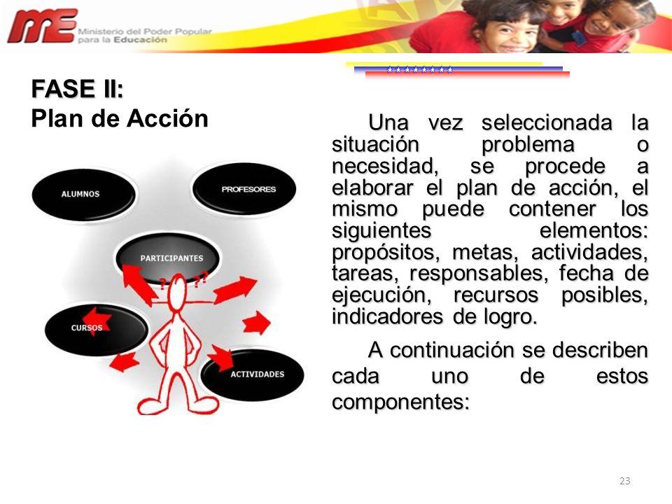 FASE II: Plan de Acción.