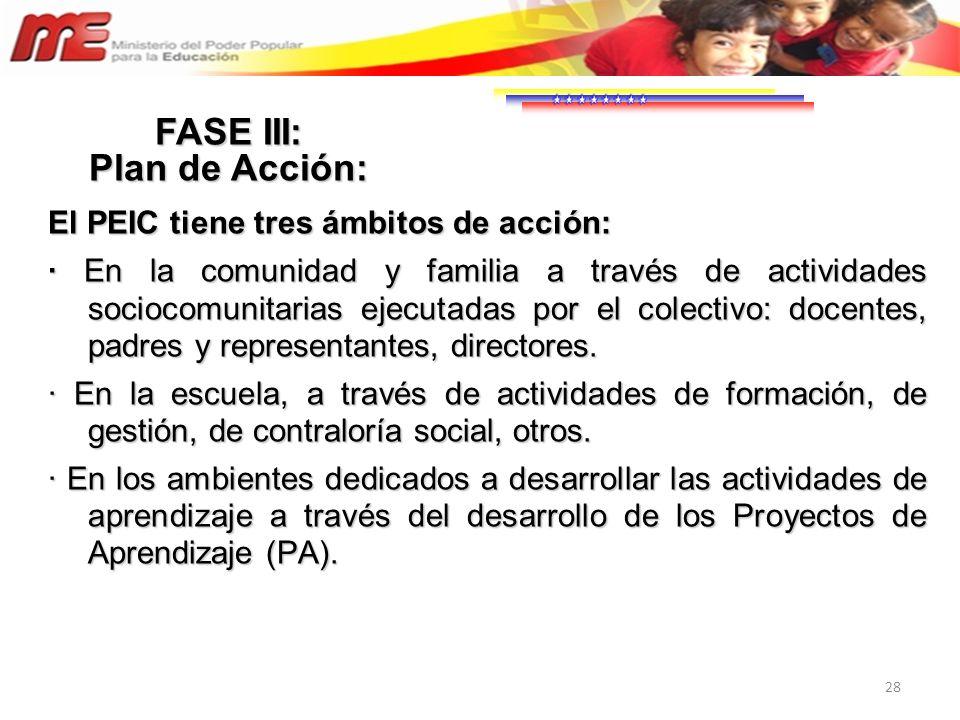 FASE III: Plan de Acción: