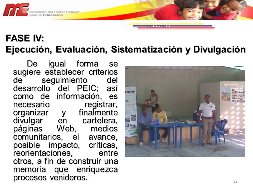 Ejecución, Evaluación, Sistematización y Divulgación