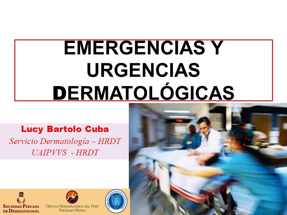 EMERGENCIAS Y URGENCIAS DERMATOLÓGICAS
