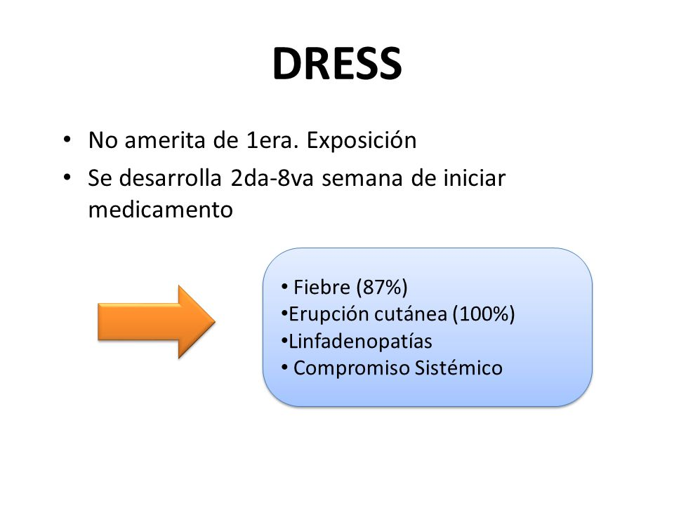 DRESS No amerita de 1era. Exposición