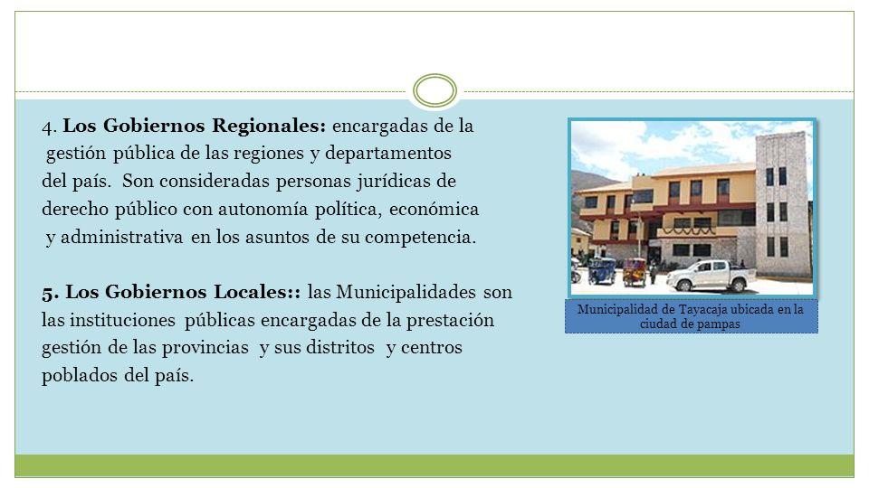 Municipalidad de Tayacaja ubicada en la ciudad de pampas
