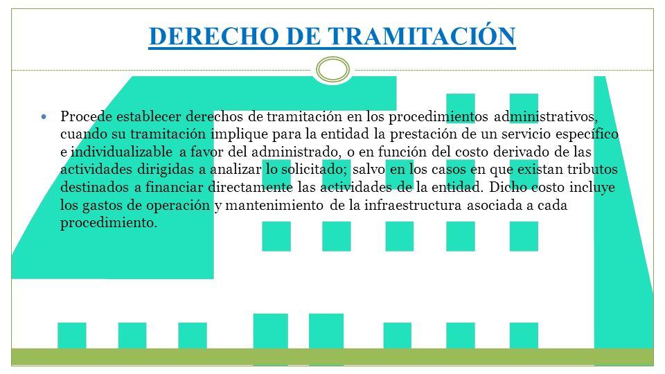 DERECHO DE TRAMITACIÓN
