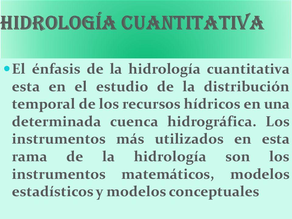 Hidrología cuantitativa