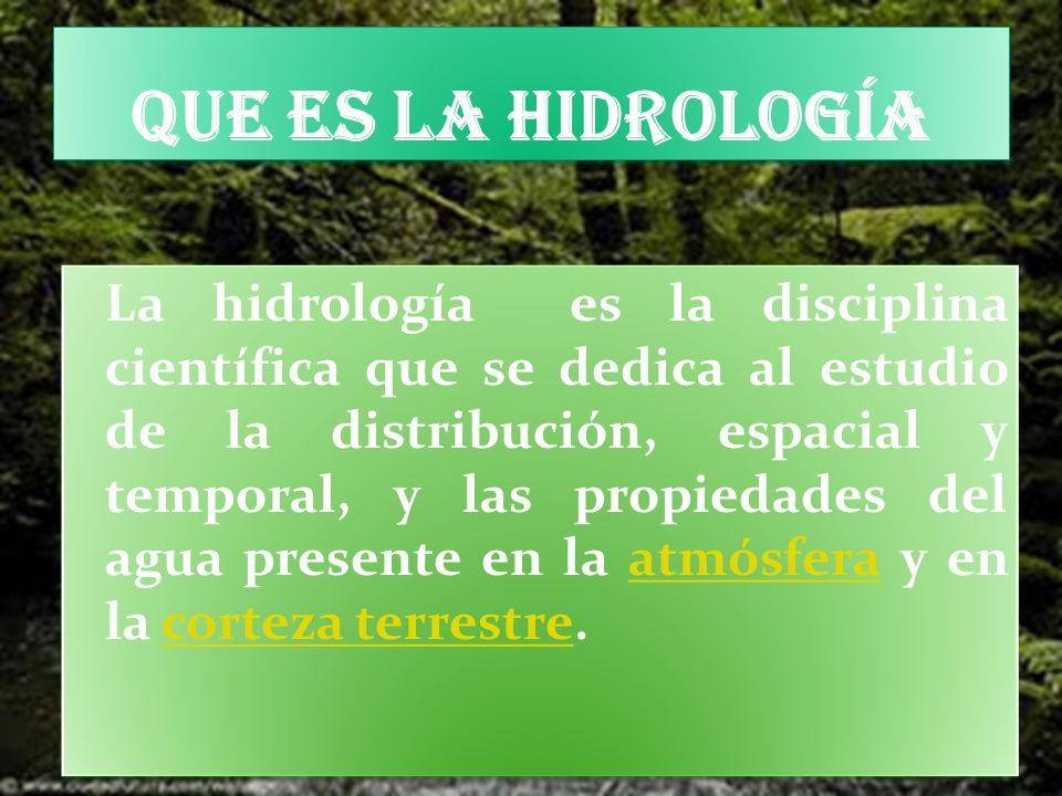 Que es la hidrología