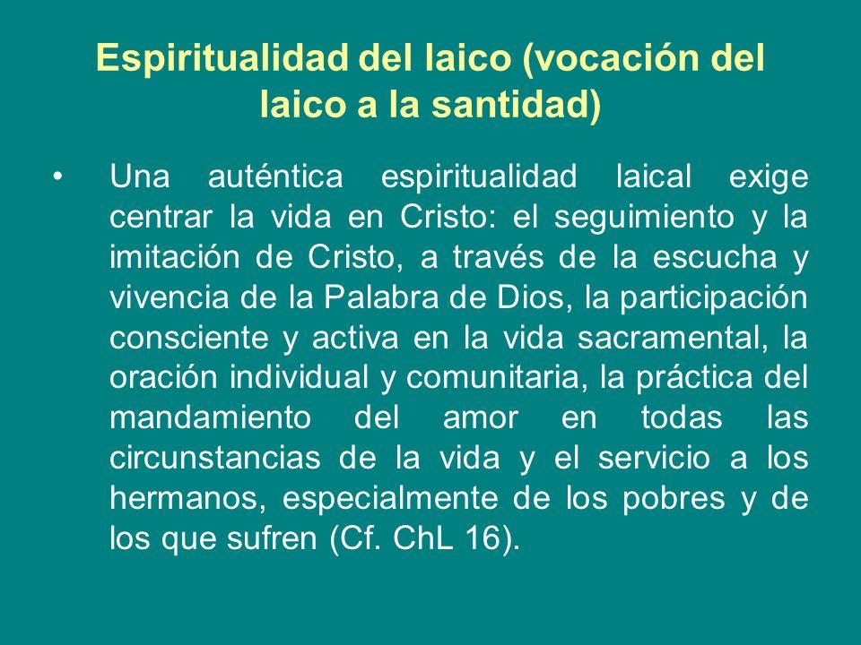 Espiritualidad del laico (vocación del laico a la santidad)