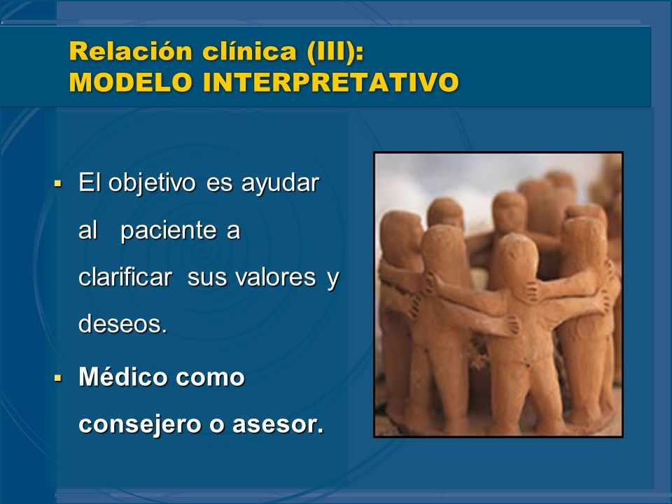 Relación clínica (III): MODELO INTERPRETATIVO