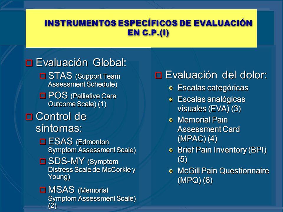 INSTRUMENTOS ESPECÍFICOS DE EVALUACIÓN EN C.P.(I)