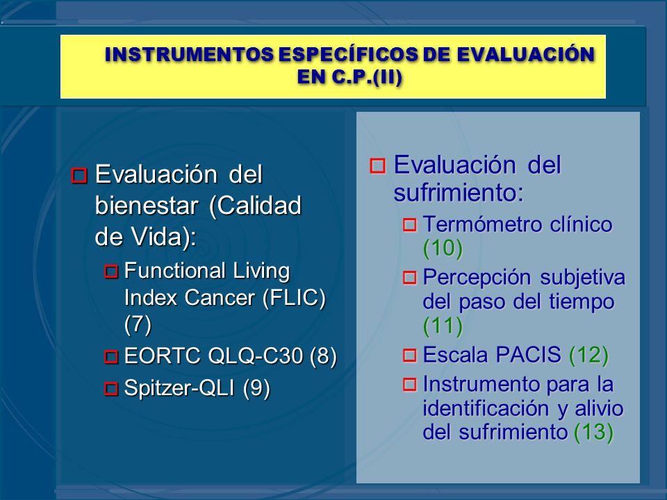 INSTRUMENTOS ESPECÍFICOS DE EVALUACIÓN EN C.P.(II)