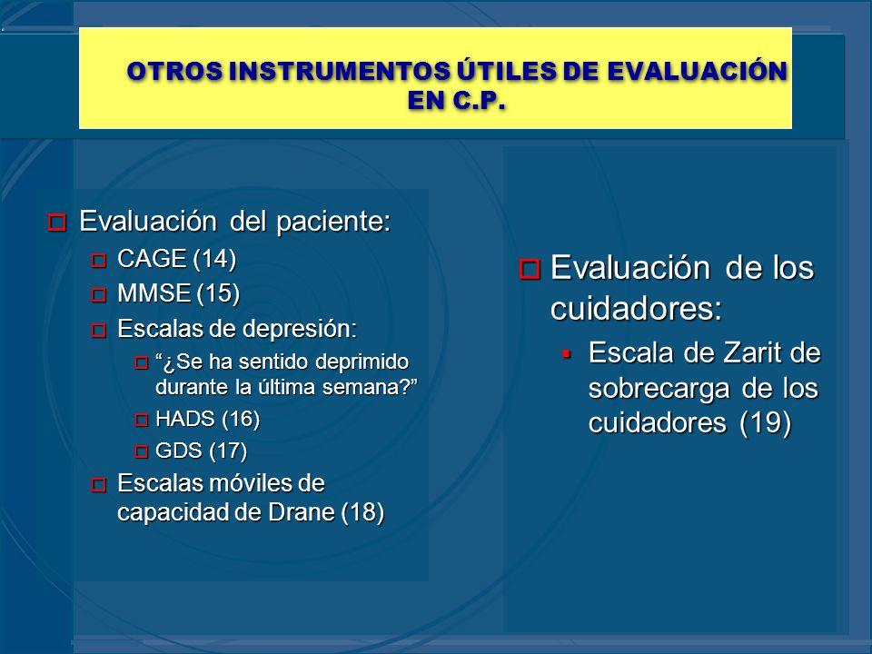 OTROS INSTRUMENTOS ÚTILES DE EVALUACIÓN EN C.P.