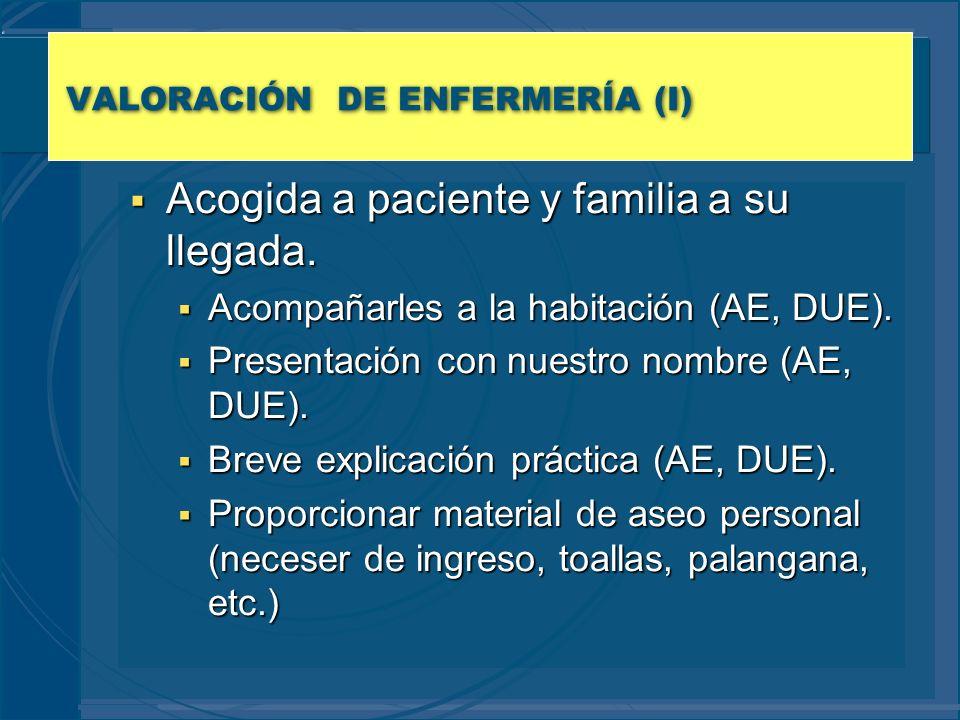 VALORACIÓN DE ENFERMERÍA (I)