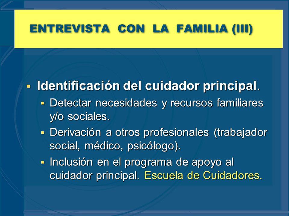 ENTREVISTA CON LA FAMILIA (III)