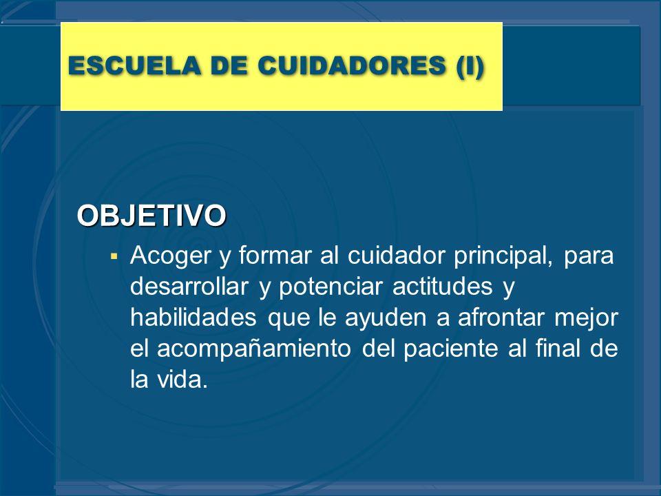 ESCUELA DE CUIDADORES (I)