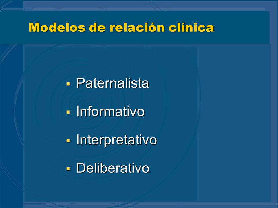 Modelos de relación clínica