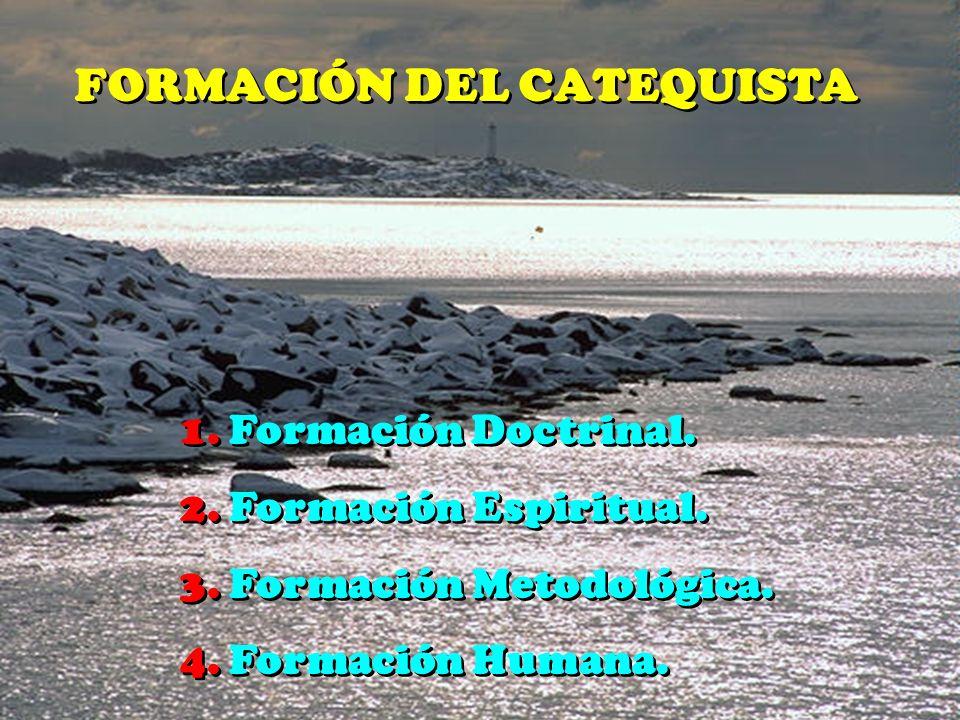 FORMACIÓN DEL CATEQUISTA
