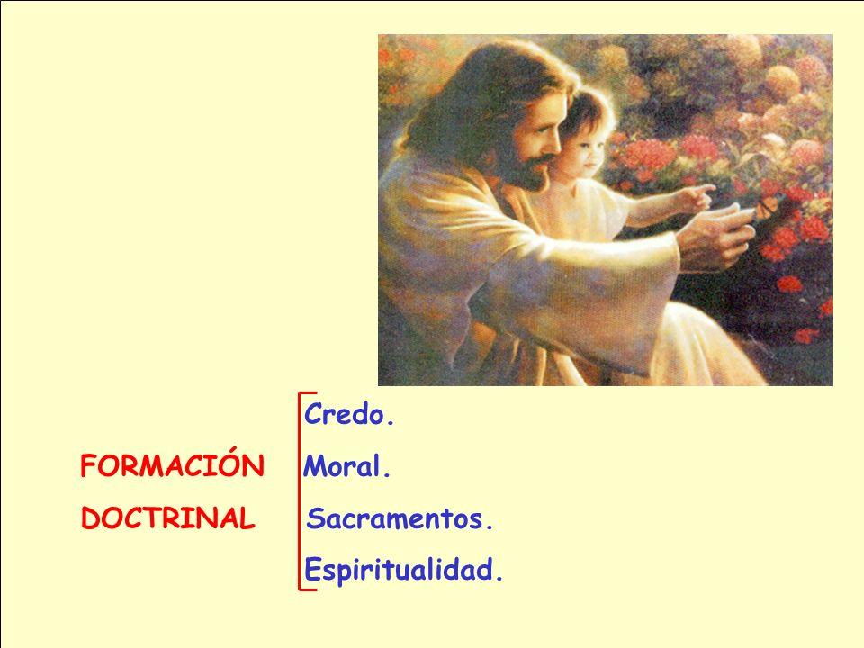 Credo. FORMACIÓN Moral. DOCTRINAL Sacramentos. Espiritualidad.