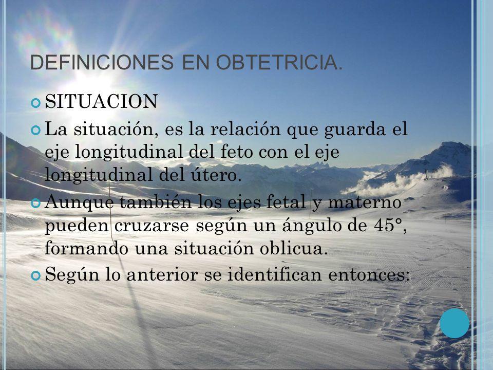 DEFINICIONES EN OBTETRICIA.