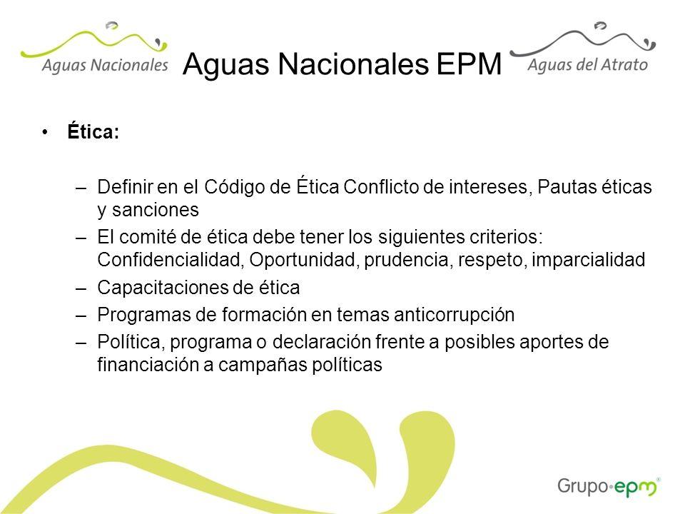 Aguas Nacionales EPM Ética: