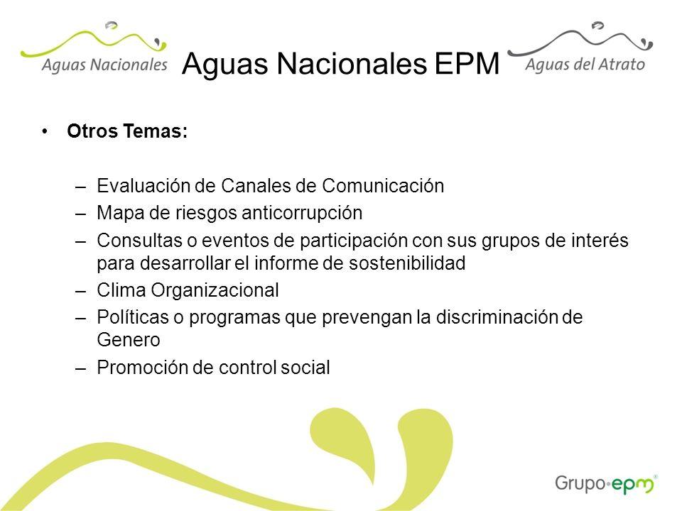 Aguas Nacionales EPM Otros Temas: