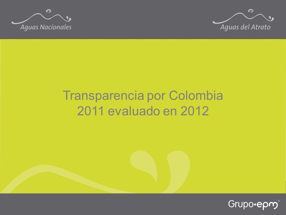 Transparencia por Colombia 2011 evaluado en 2012