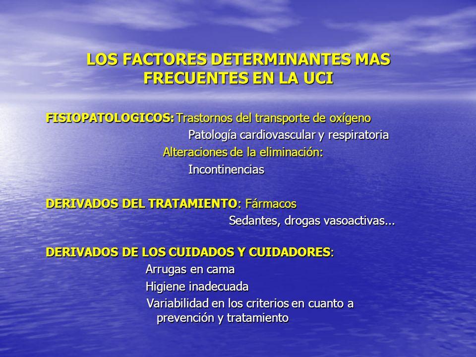 LOS FACTORES DETERMINANTES MAS FRECUENTES EN LA UCI