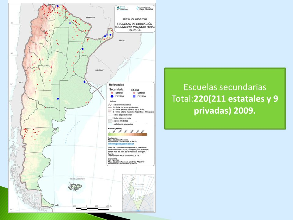 Total:220(211 estatales y 9 privadas) 2009.