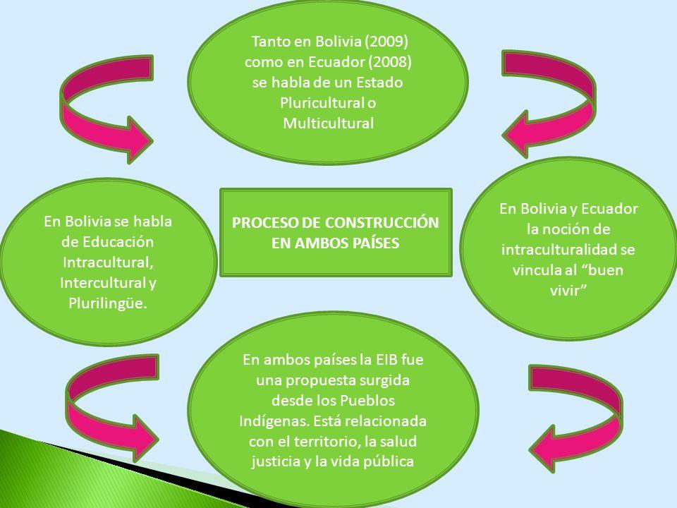 PROCESO DE CONSTRUCCIÓN EN AMBOS PAÍSES