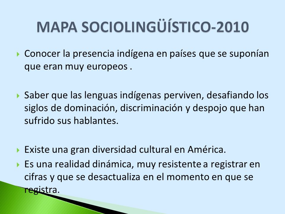 MAPA SOCIOLINGÜÍSTICO-2010