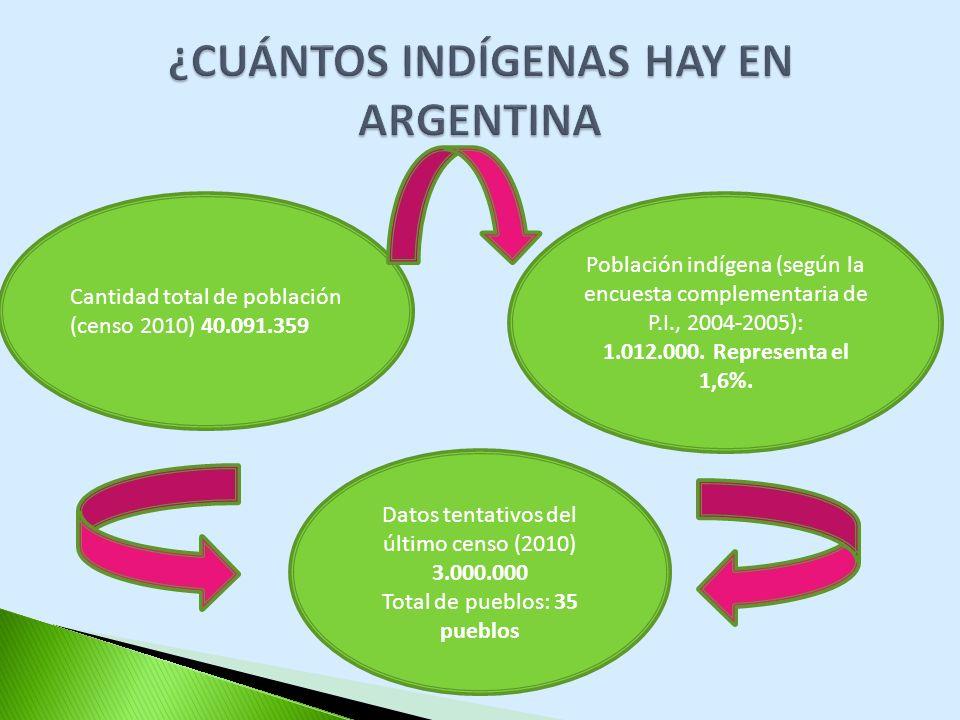 ¿CUÁNTOS INDÍGENAS HAY EN ARGENTINA