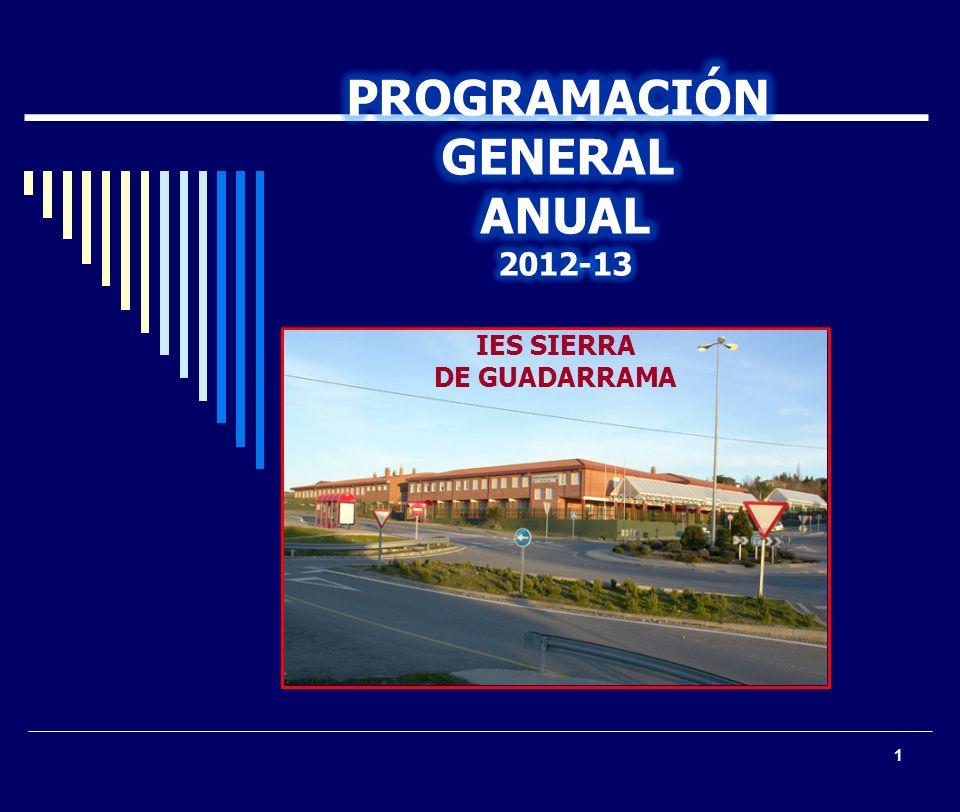 PROGRAMACIÓN GENERAL ANUAL 2012-13