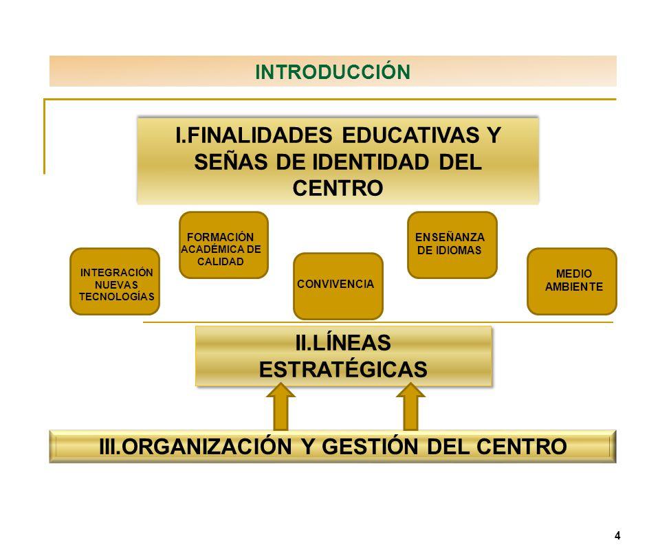 I.FINALIDADES EDUCATIVAS Y SEÑAS DE IDENTIDAD DEL CENTRO