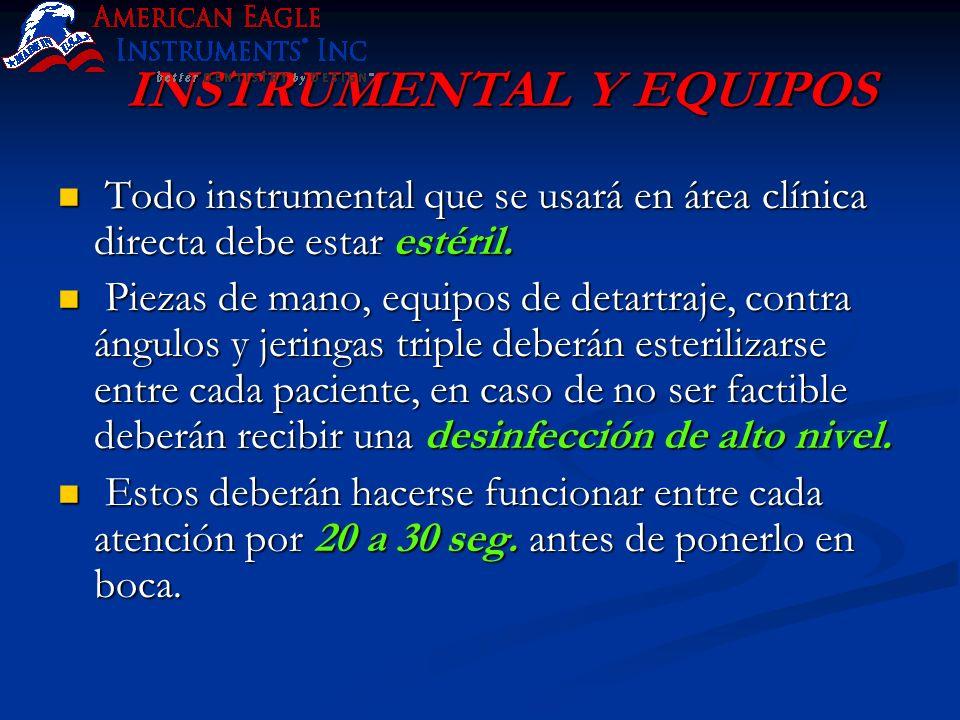 INSTRUMENTAL Y EQUIPOS