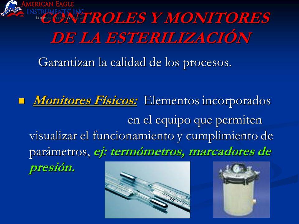 CONTROLES Y MONITORES DE LA ESTERILIZACIÓN