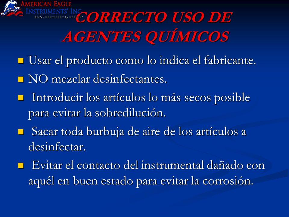 CORRECTO USO DE AGENTES QUÍMICOS