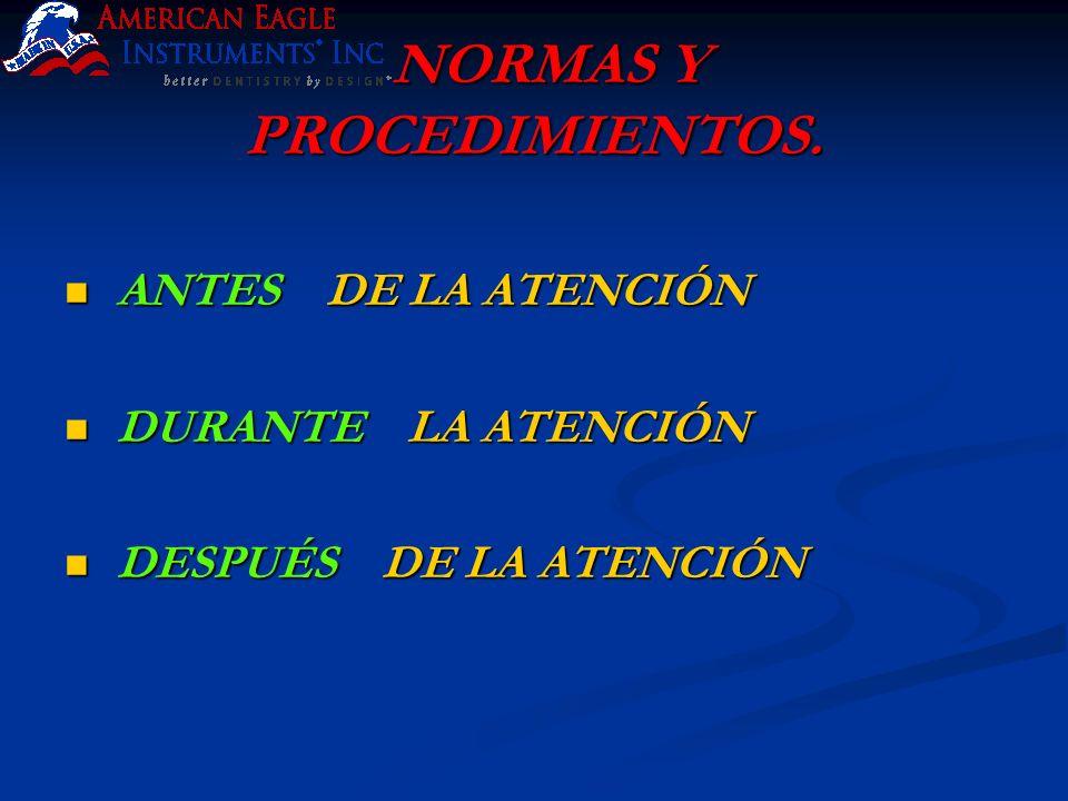 NORMAS Y PROCEDIMIENTOS.
