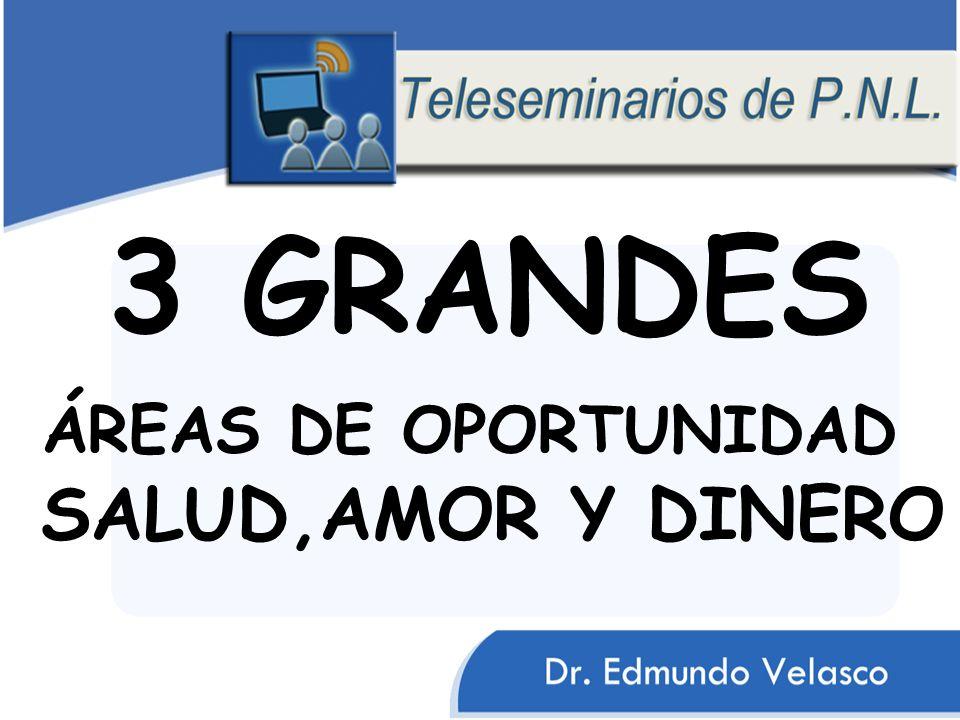 3 GRANDES ÁREAS DE OPORTUNIDAD SALUD,AMOR Y DINERO