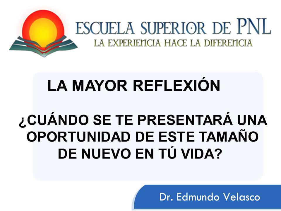 ¿CUÁNDO SE TE PRESENTARÁ UNA OPORTUNIDAD DE ESTE TAMAÑO