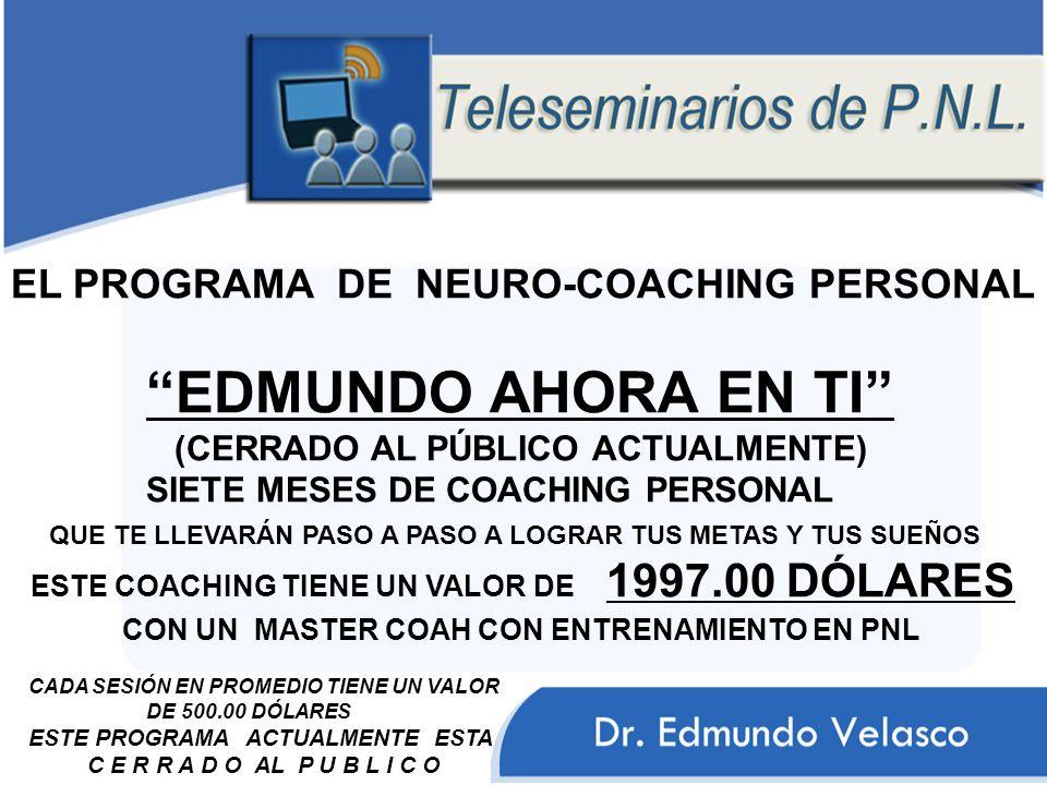 EL PROGRAMA DE NEURO-COACHING PERSONAL