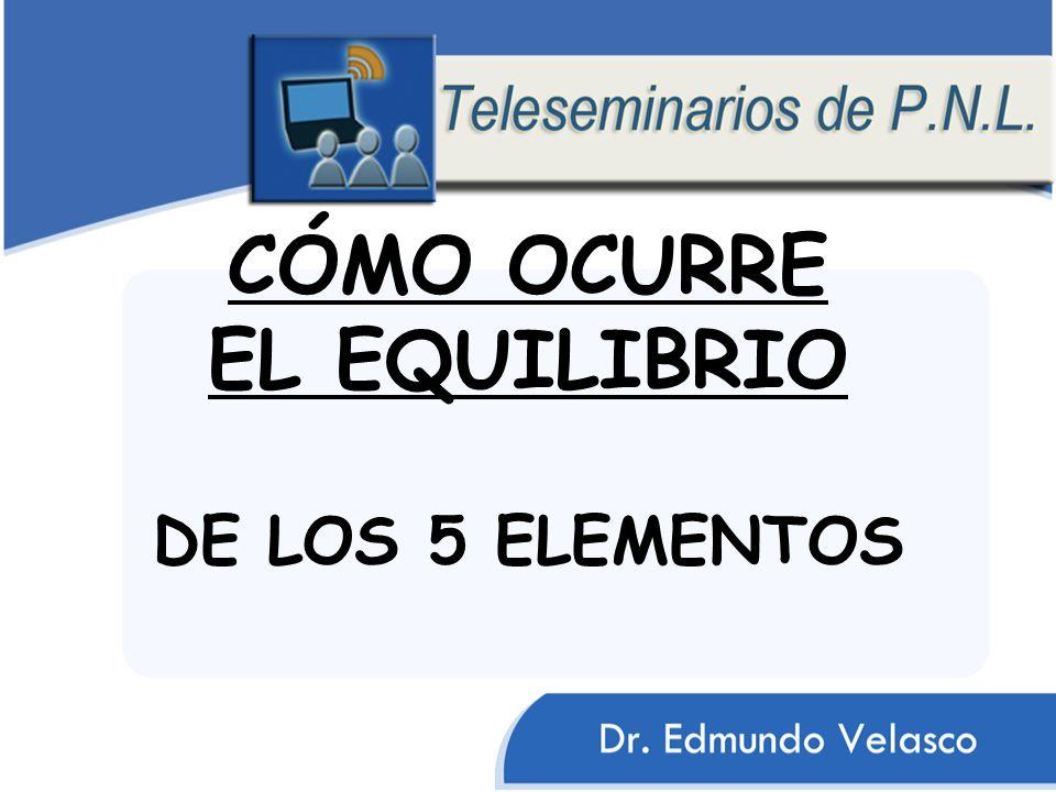 CÓMO OCURRE EL EQUILIBRIO DE LOS 5 ELEMENTOS