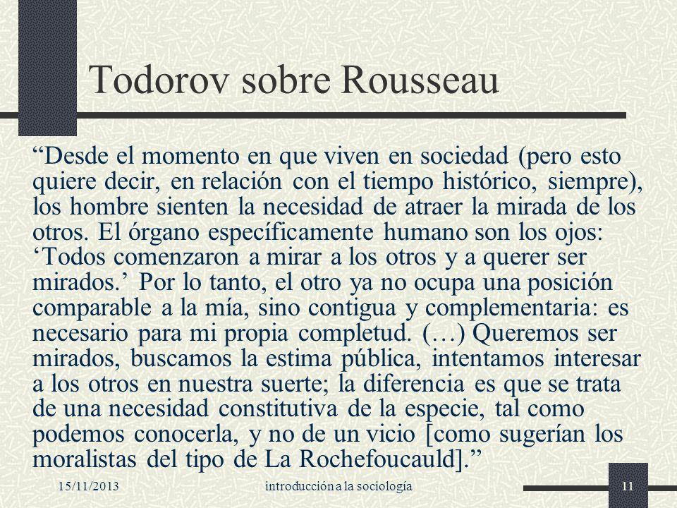 Todorov sobre Rousseau