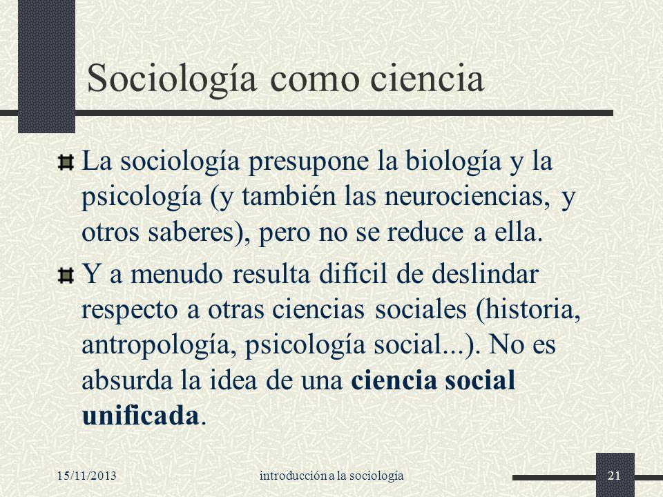 Sociología como ciencia