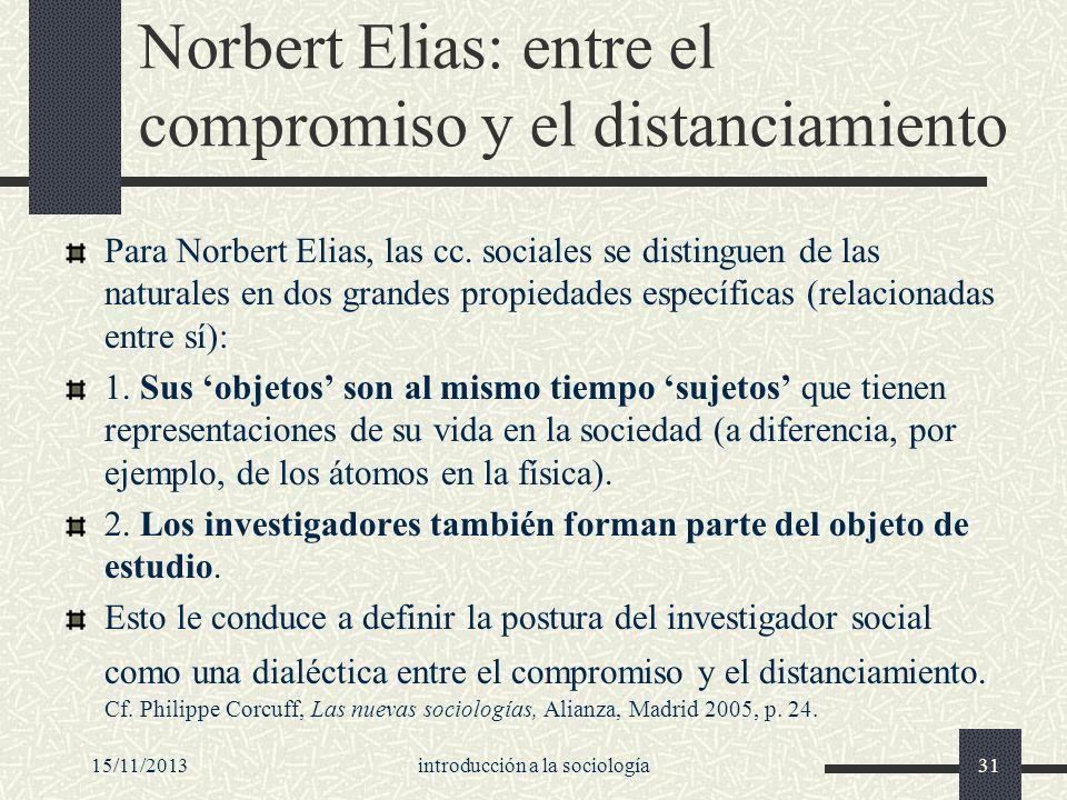 Norbert Elias: entre el compromiso y el distanciamiento