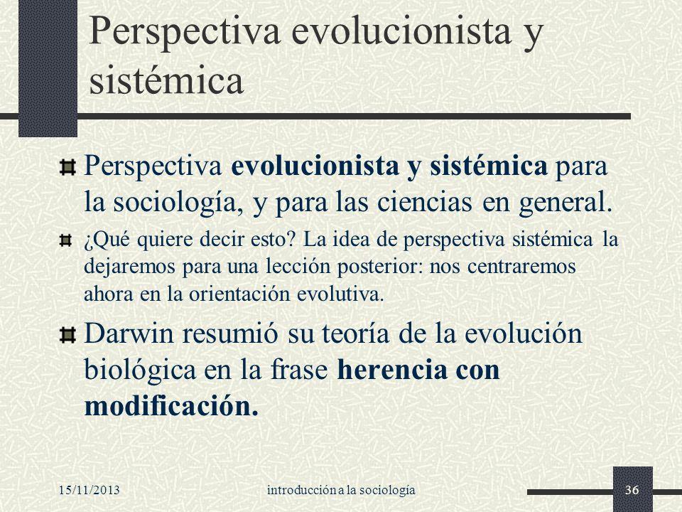 Perspectiva evolucionista y sistémica