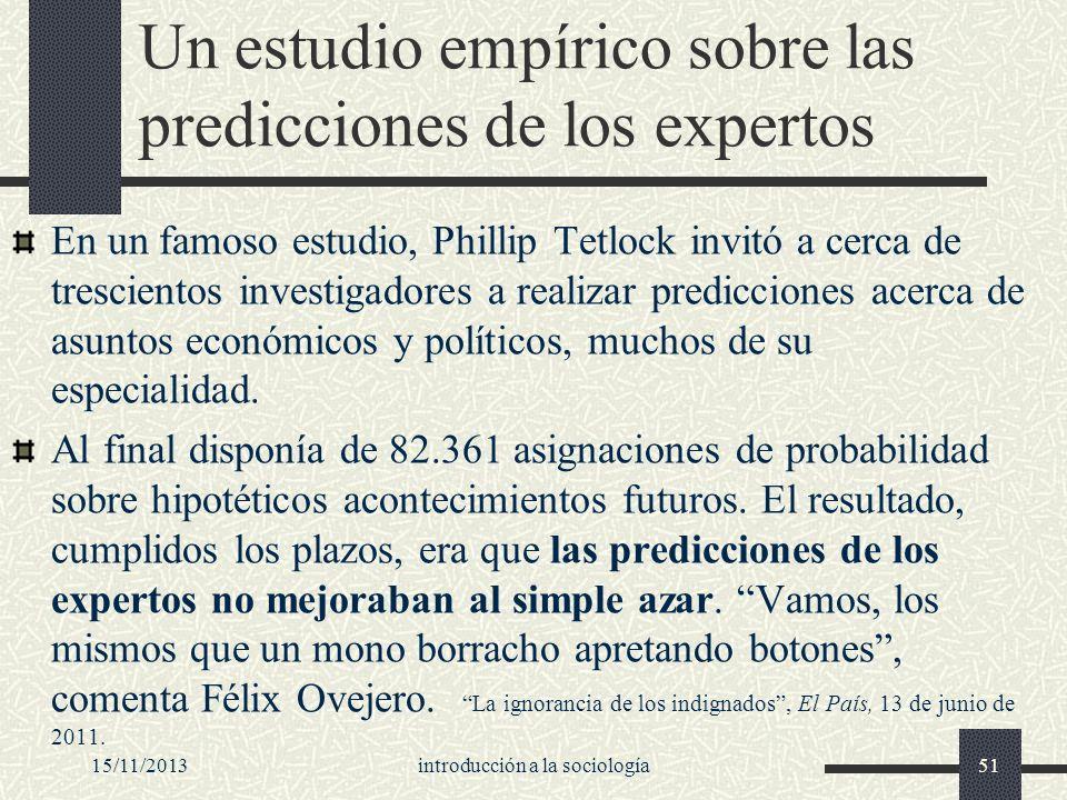 Un estudio empírico sobre las predicciones de los expertos