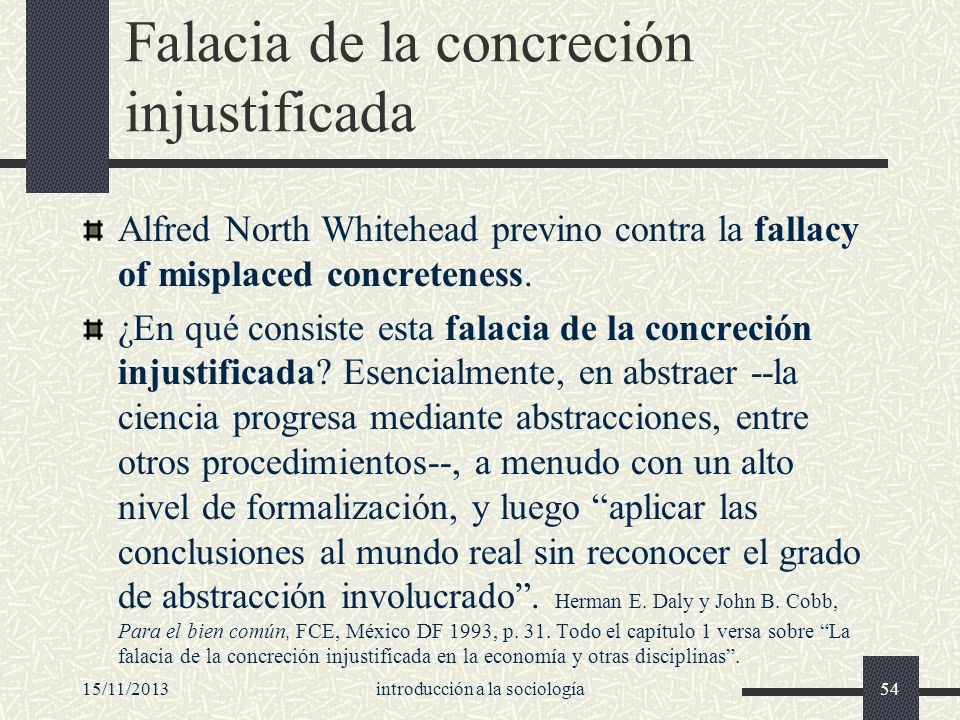 Falacia de la concreción injustificada